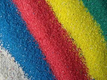 Песок кварцевый цветной 0,4-0,8, 25 кг