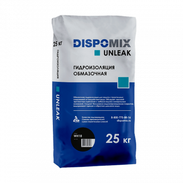 Гидроизоляция обмазочная жесткая Unleak WH18, 25 кг