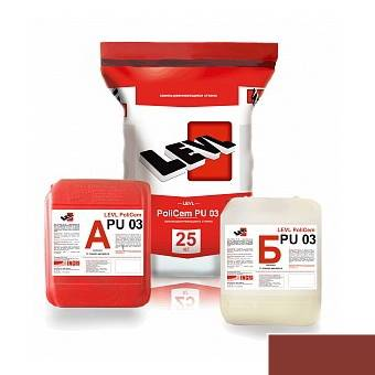 LEVL PoliCem PU 03, Красно-коричневый цвет